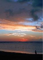 Sunset at Ala Moana Beach Park