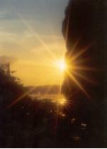 Sunset from under railroad bridge