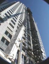 Skyscraper construction cranes