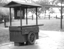The Red Cart - B&W Original
