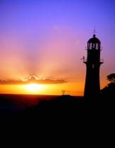 DiamondHead Lighthouse at Sunset