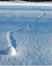 Wind Created Snowball