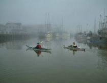 Kayaks in the Mist