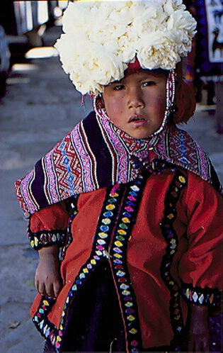 Child with a rose hat, Guatamala - ID: 64921 © Govind p. Garg