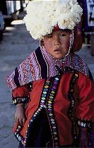 Child with a rose hat, Guatamala