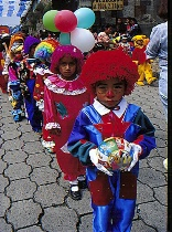 Childrenin costumes, Parade, Guatamala.