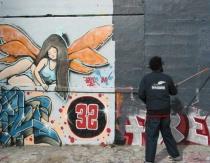 Graying wall