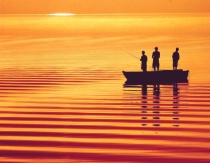 Photography Contest Grand Prize Winner - February 2003: Boys Fishing on Honeoye Lake