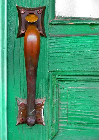 Green Door Handle