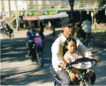 scooter ride with dad