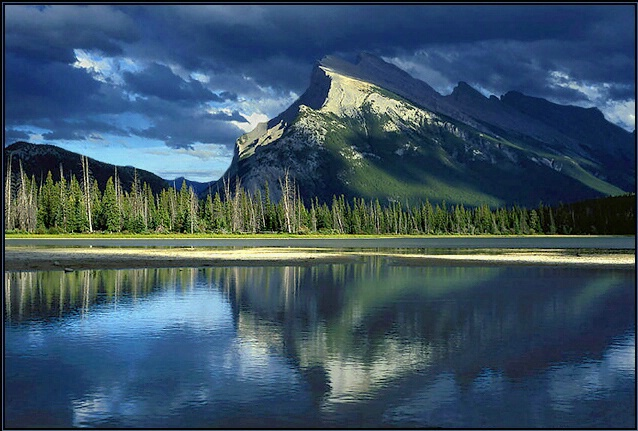 Light on Mt Rundle