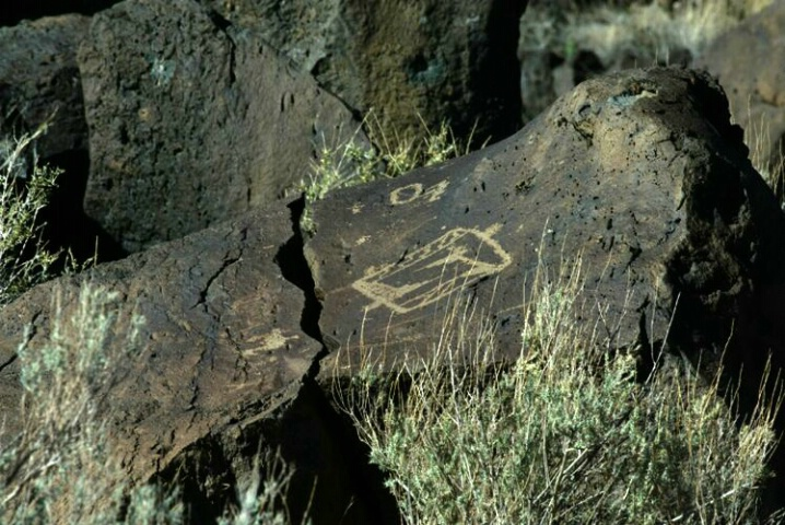 Petroglyph with Telephoto