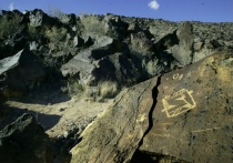 Petroglyph with Wide-Angle