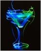 Martini in blue a...