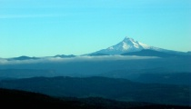 Mt. Hood In Blue