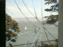 San Francisco Bay from inside Alcatraz prison