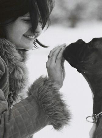 Her dog