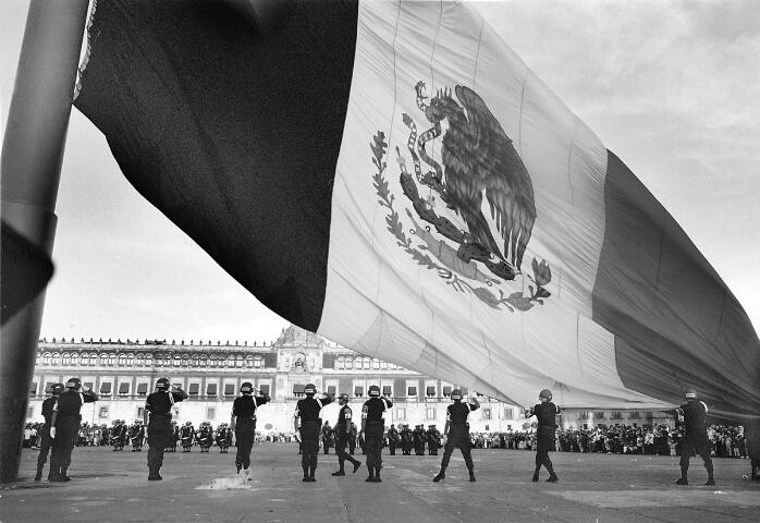 Mexico City Ntl. Plaza Flag Dropping