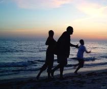 Family Sunset Run