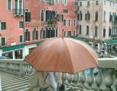 Rialto Bridge In The Rain