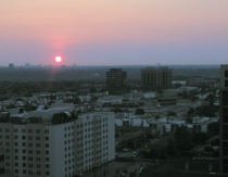 High horizon Dallas Sunrise at dawn