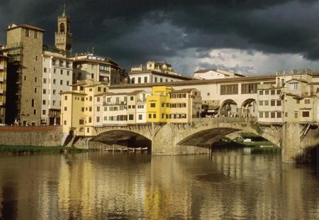 Storm over Ponte Vecchio, Italy