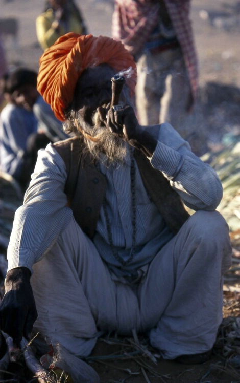 Man with Pipe - ID: 137205 © Govind p. Garg