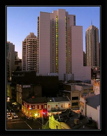 evening lights-Sydney at 5:30pm