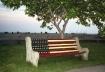 Patriotic Bench