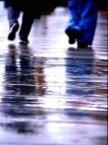 walking in the rain (upper third)