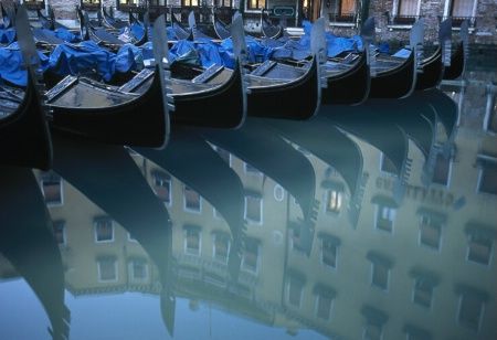 Gondolas reflection