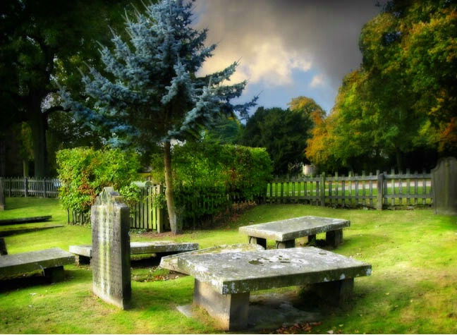 Graves at the Bolton Abbey ruins, Yorkshire