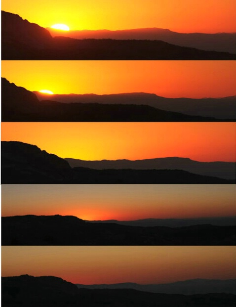 Sunrise in Five stages