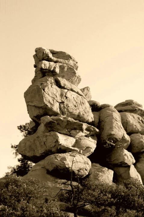 Mtn Rocks in Sepia