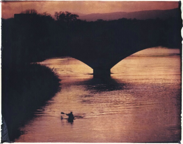 Kayaker on Arno, Florence