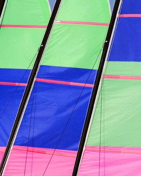 Sunny Staggered Sails