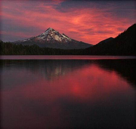 Mt. Hood - Sunset at Lost Lake