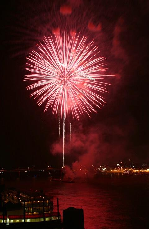 Red Night on the Riverfront - ID: 261132 © Rhonda Maurer