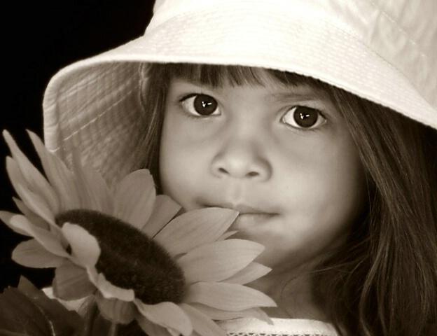 Antique flower girl