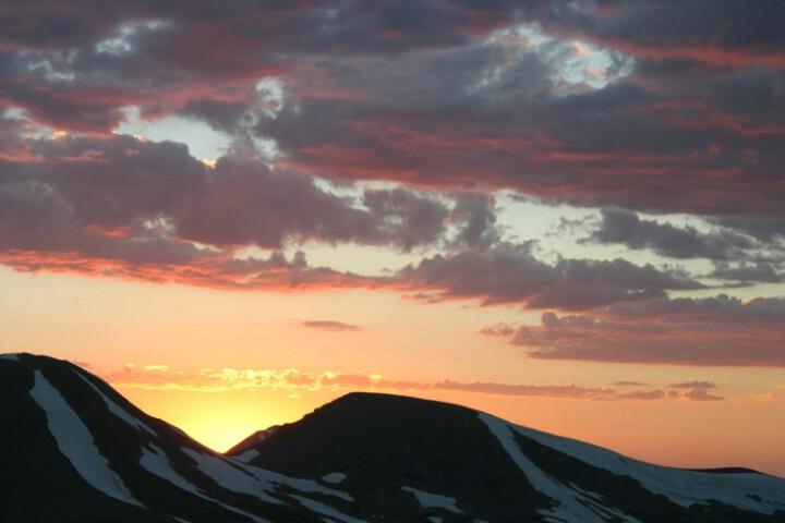 Gore Range overlook sunset