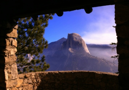 half dome, framed