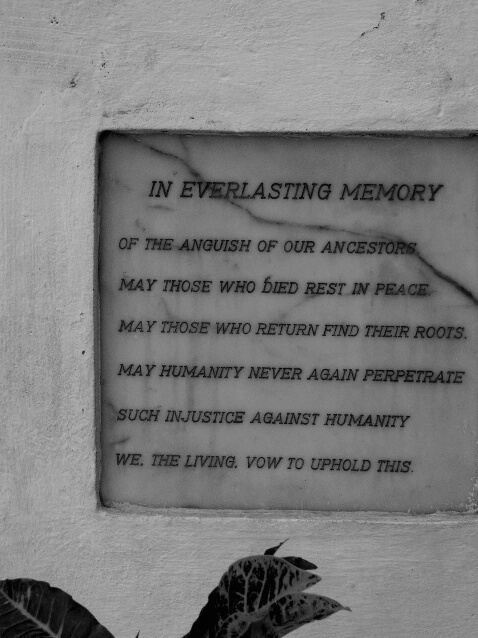 Slave Castle Monument Sign - ID: 282186 © Karen Johnson