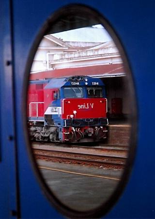 Train In A Window