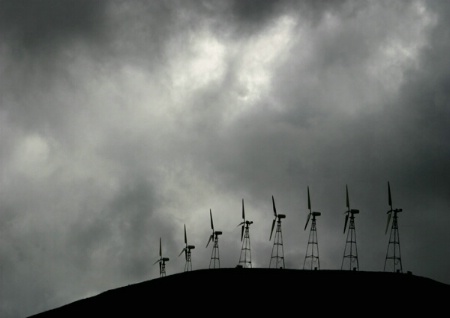 Windmills on Stormy Day