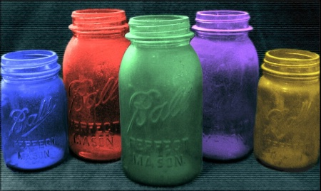 Colorful Jars