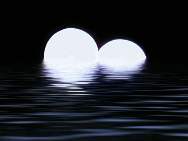 Twin Moons Reflections