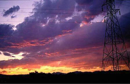 Electric Sunset!  #1703 - ID: 317608 © Shirley  Scott