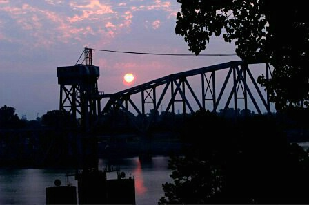 Train Bridge Over the River - ID: 323839 © Shirley  Scott