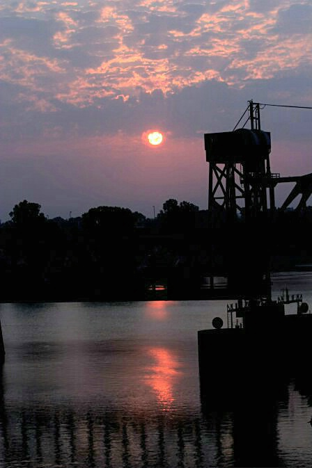 Sunrise & Bridge on Arkansas River - ID: 323846 © Shirley  Scott