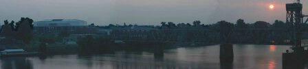 Alltel Arena & Train Bridge Panorama - ID: 323878 © Shirley  Scott